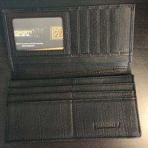 Monhinty Italian Leather Long wallet
